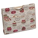 Knitting & Sewing Bag with Wooden Handles - Patisserie