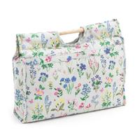 Knitting & Sewing Bag with Wooden Handles - Spring Garden