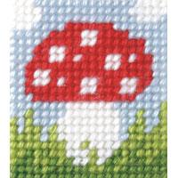 Toadstool - My First Embroidery Kit - 11x13cm approx