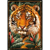 Jungle Tiger MCG Latch Hook Kit 27x33 Inches