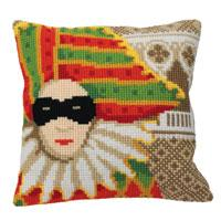 Carnival Mask Chunky Cross Stitch Cushion Front Kit