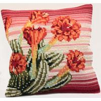 Cactus Chunky Cross Stitch Cushion Front Kit