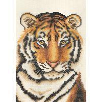 Tiger Portrait Anchor Starters Tapestry Kit 23x16cm