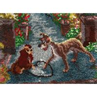 Disney Dreams Collection Latch Hook Kit ~ Lady & The Tramp ~ 27x