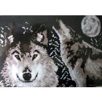 "Midnight Wolves  -Caron Latch Hook / Rug Making Kit  27""X40"""