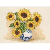 Anchor Counted Cross Stitch Kit - Sunflower Vase 21x29cm