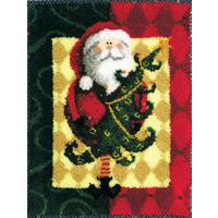 Santa & Tree Rug MCG Latch Hook Kit 28x36""