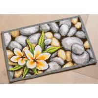 Cross Stitch Rug Kit: Frangipani30x20""