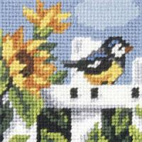 Blue Tit  - My First Embroidery Kit - 16x16cm approx