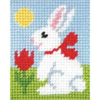Easter Bunny - My First Embroidery Kit - 17x20cm approx