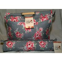 Matching Knitting Bags - Beautiful Bloom - Wooden Handled Bag &