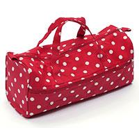 Red Polkadots  Knitting Bag Craft Storage Bag