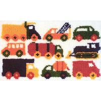 "Traffic Jam MCG Latch Hook Kit 26x16"" approx"