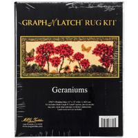 Geraniums MCG Latch Hook Kit 41x19""
