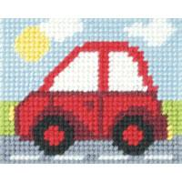 Red Car - My First Embroidery Kit - 17x20cm approx