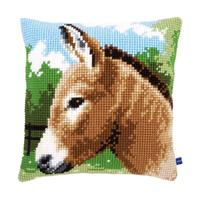 Donkey Chunky Cross Stitch Cushion Front kit PN-000862