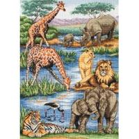 Maia Collection - African Wildlife Counted Cross Stitch Kit