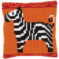 Zebra Chunky Cross Stitch Cushion Front Kit 25x25cm