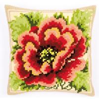 Glorious Poppy Chunky Cross Stitch cushion front