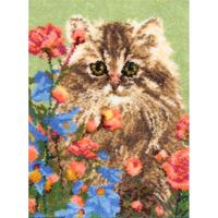 "Latch Hook Kit 33""X30""-Flower Patch Kitty MCG Textiles"
