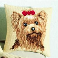 Yorkshire Terrier Chunky Cross Stitch Cushion Front Kit