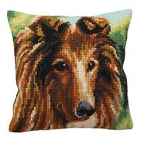Lassie Dog Chunky Cross Stitch Cushion Front Kit
