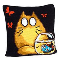 Who? Me? Chunky Cross Stitch Cushion Front Kit