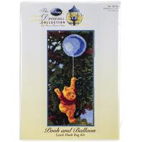 Disney Dreams Collection Latch Hook Kit ~ Pooh & Balloon ~ 17x35