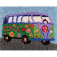 Peace Van Latch Hook Kit MCG Textiles 27x20 inches