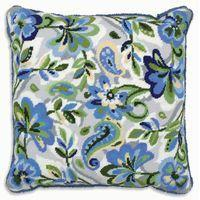 Paisley Floral In Blue- Anchor Living Tapestry Kit ALR04 40 x 40