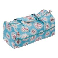 Knitting Bag Sewing Bag with soft handles -Blue Cameo Floral Des