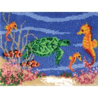 Under The Sea Latch Hook Kit MCG Textiles 27x20 inches