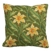 Little Daffodils Design Chunky Cross Stitch Cushion Front Kit
