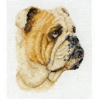 Bulldog - Anchor Counted Cross Stitch Kit 11x8cm