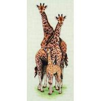 Anchor Giraffe Family Counted Cross Stitch Kit  14x47cm
