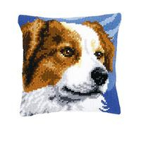Border Collie Chunky Cross Stitch Cushion Front Kit