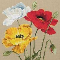 Maia Collection - Poppy Trio Counted Cross Stitch Kit