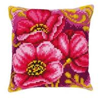 Pink Bouquet Chunky Cross Stitch Cushion Front Tapestry Kit 16x