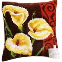 Calla Lily Cushion Front tapestry kit 16x16""