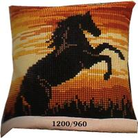 Sunset Stallion. Vervaco Cushion Front Tapestry Kit