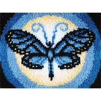 Butterfly Moon Latch Hook Kit 15x20 inches
