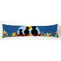 Draught Excluder Kit Moonlight Cat Family