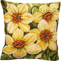 Narcissi cushion front tapestry kit by Vervaco 16x16