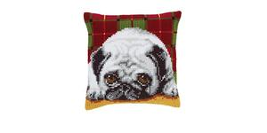 Pug Dog Chunky Cross Stitch Cushion Front Kit