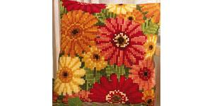 Gerbera Cushion Front Tapestry Kit 16x16