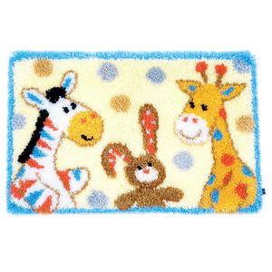 "Furry Friends Latch Hook Kit from Vervaco 69x44cm (27.6x17.6"")"