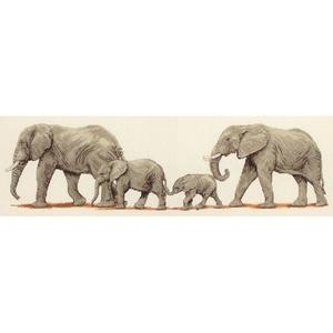 Elephant Stroll  Counted Cross Stitch Kit  14x47cm