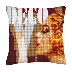 Art Deco 2 Chunky Cross Stitch Cushion Front Kit