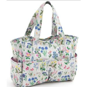 Spring Garden Vinyl Knitting Bag Craft Storage Bag