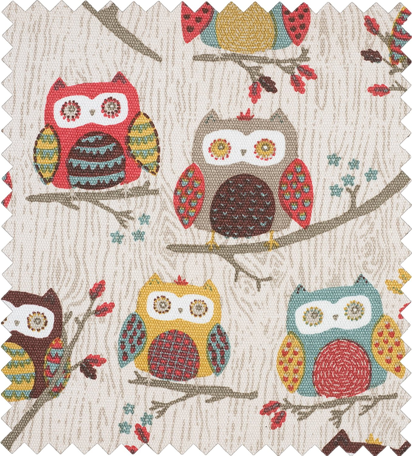 Hoot Design Knitting Needle Case with 10 pairs of Bamboo Pins